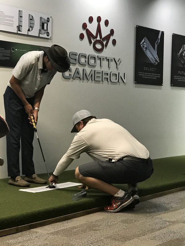 PGA Tour Professional & Golf Instructor Craig Barlow working with top student
