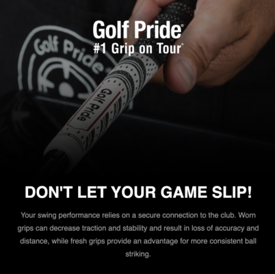 Regripping Ad from Golf pride